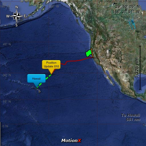 Pegasus-MotionX Pacific Cup 2010 – Position Update 10