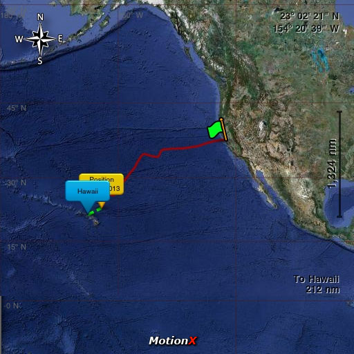 Pegasus-MotionX Pacific Cup 2010 – Position Update 13