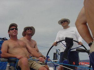 John Hayes, Mike Mottl and Philippe in the blazing sun