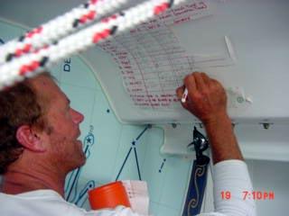 Marco setting up the ETA betting pool