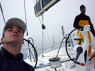 Sailing with Zephyrus behind us after 4 hours