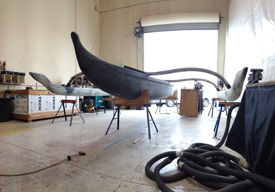 reinventing the traditional Hawaiian outrigger sailing canoe