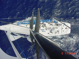 Sailing in the trades from the top of the mast