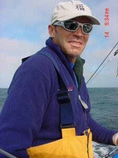 Adam at the Farrallon Islands