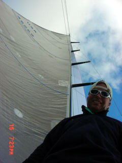 Morgan and our 100ft carbon mast