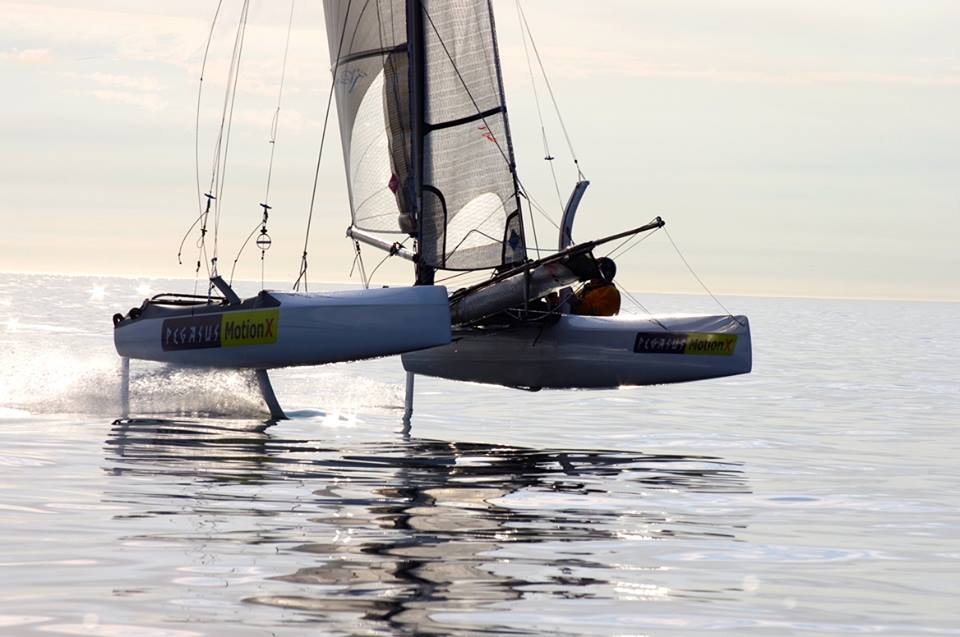 MotionX Foiling Great Pacific Ocean Carbon F20 Tank Testing!