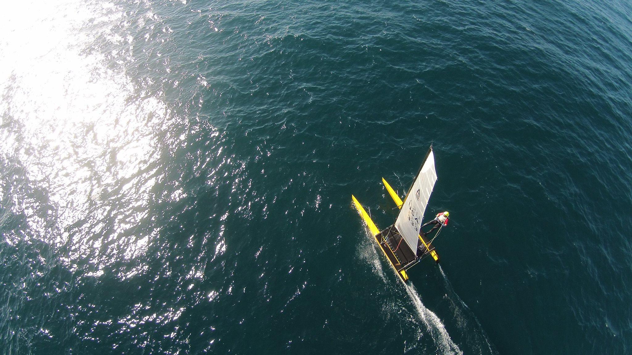 Philippe Kahn - Pegasus Racing - Santa Cruz High Performance A Cat Sailing