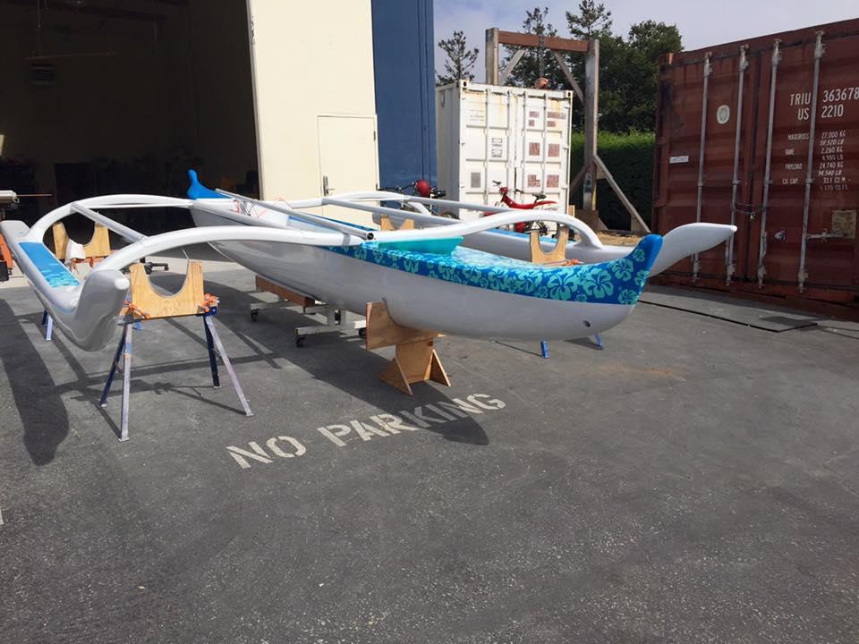 The Pegasus 100 percent carbon Hawaiian Sailing Canoe