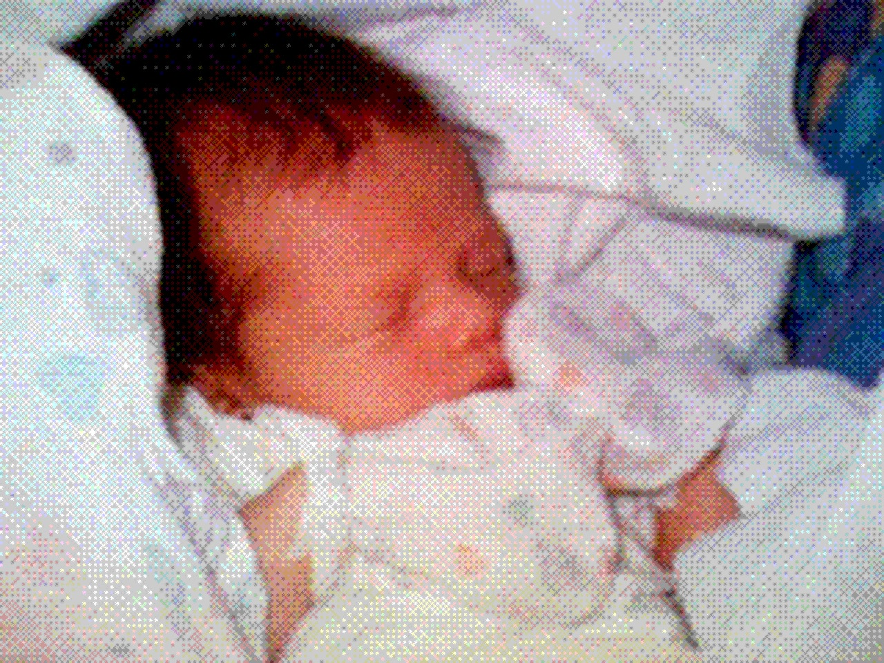 Philippe Kahn's first camera phone picture of daughter, Sophie Kahn